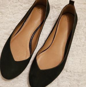 UGG like new Black Ballet Slipper Shoes slip on, f